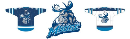 With a new look to match its NHL affiliate, the Manitoba Moose are back in Winnipeg (Photo via Jets.NHL.com)